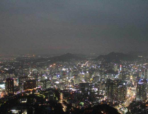 Vue de Séoul