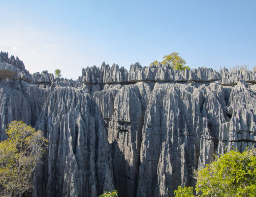 Madagascar Vue sur les Tsingy de Bemaraha