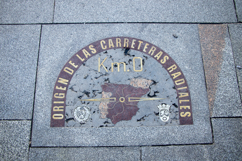 Madrid - Plaza Puerta del Sol : Kilomètre zéro