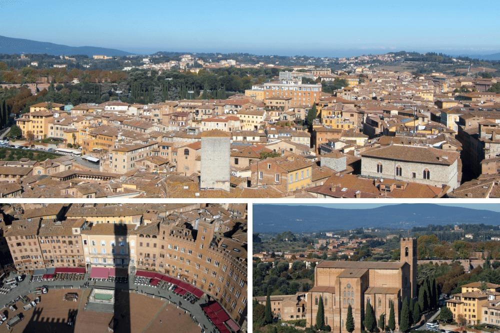 Vue depuis la Torre del Mangia à Sienne
