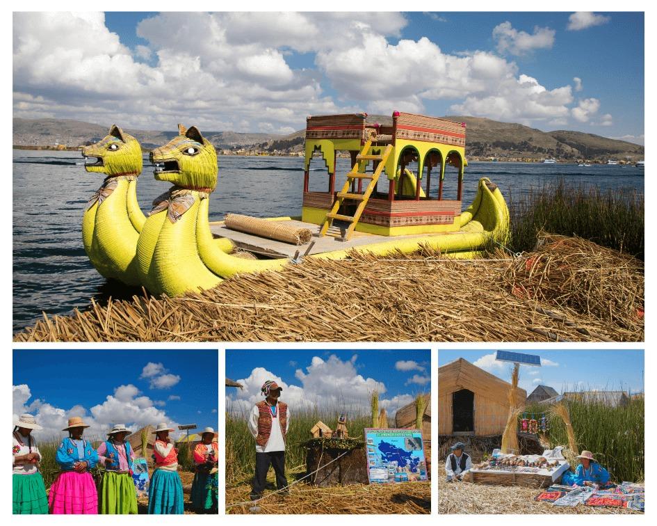Visite des iles Uros sur le lac Titicaca