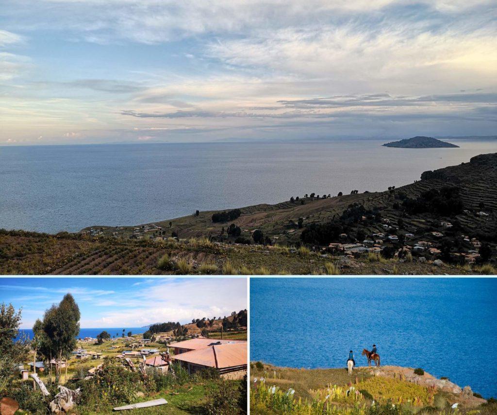 Vue sur le Lac Titicaca au Pérou