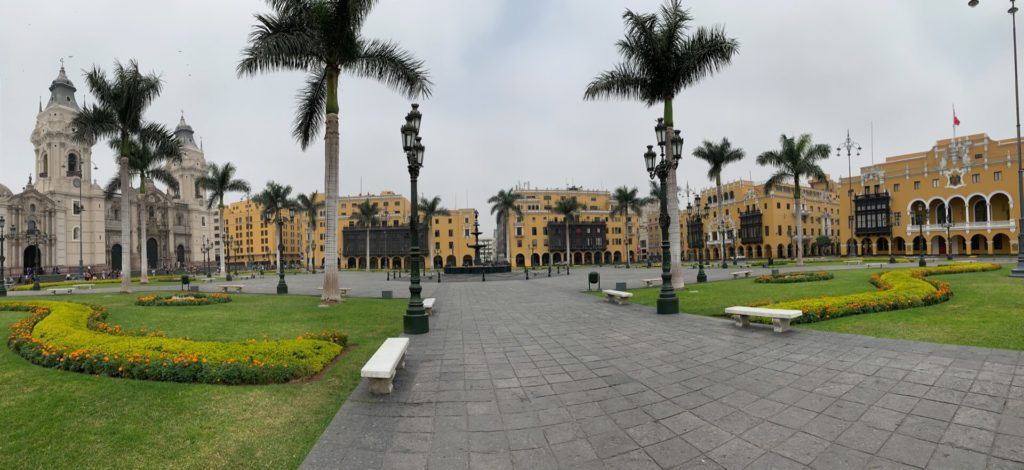 Panorama Plaza de Armas à Lima