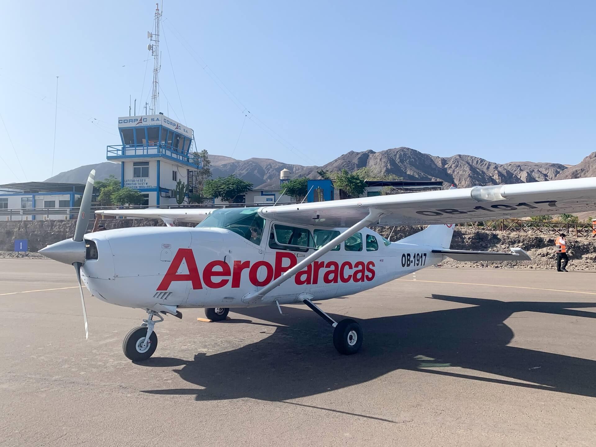 Avion Aero Paracas pour survoler les géoglyphes de Nazca