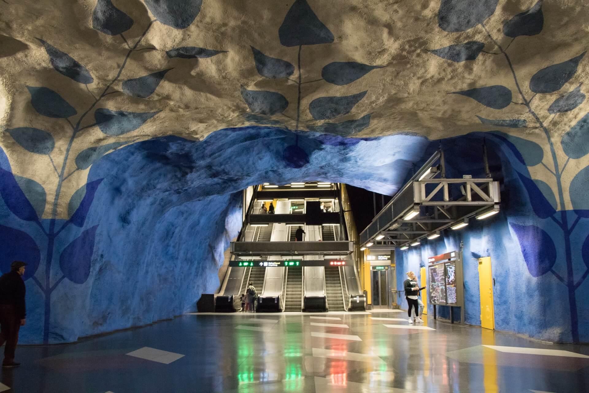 Visiter station metro T-centralen Stockholm