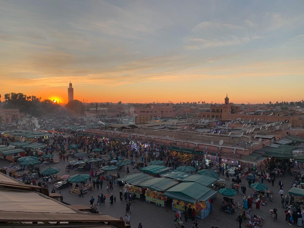 Citytrip de 4 jours à Marrakech -  Place Jemâa El Fna