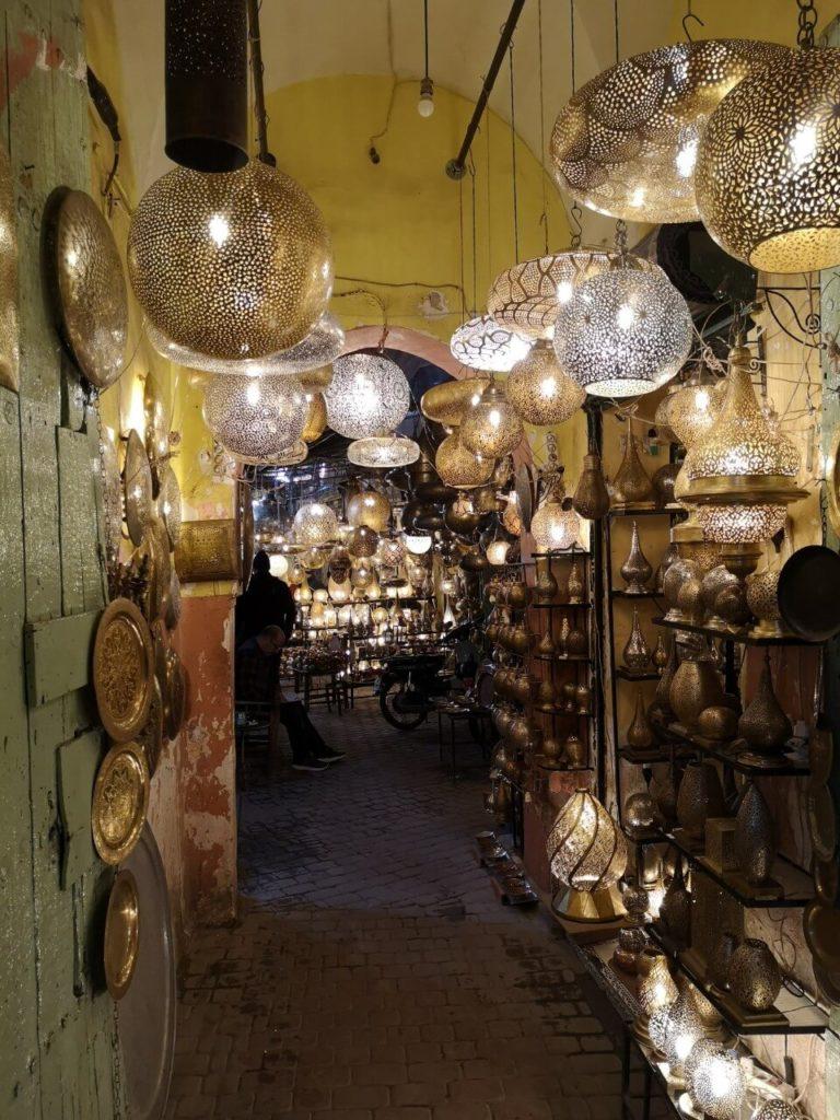 Lampes souk marrakech