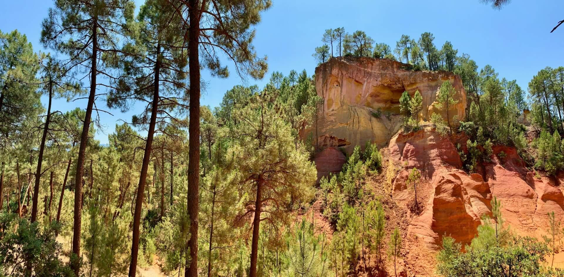 Panorama Sentier des Ocres à Roussillon